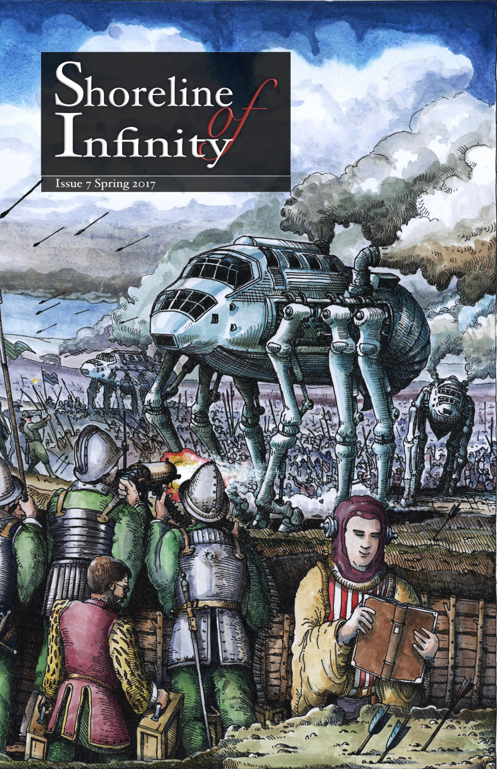 Shoreline of Infinity 7 Cover by Stephen Pickering