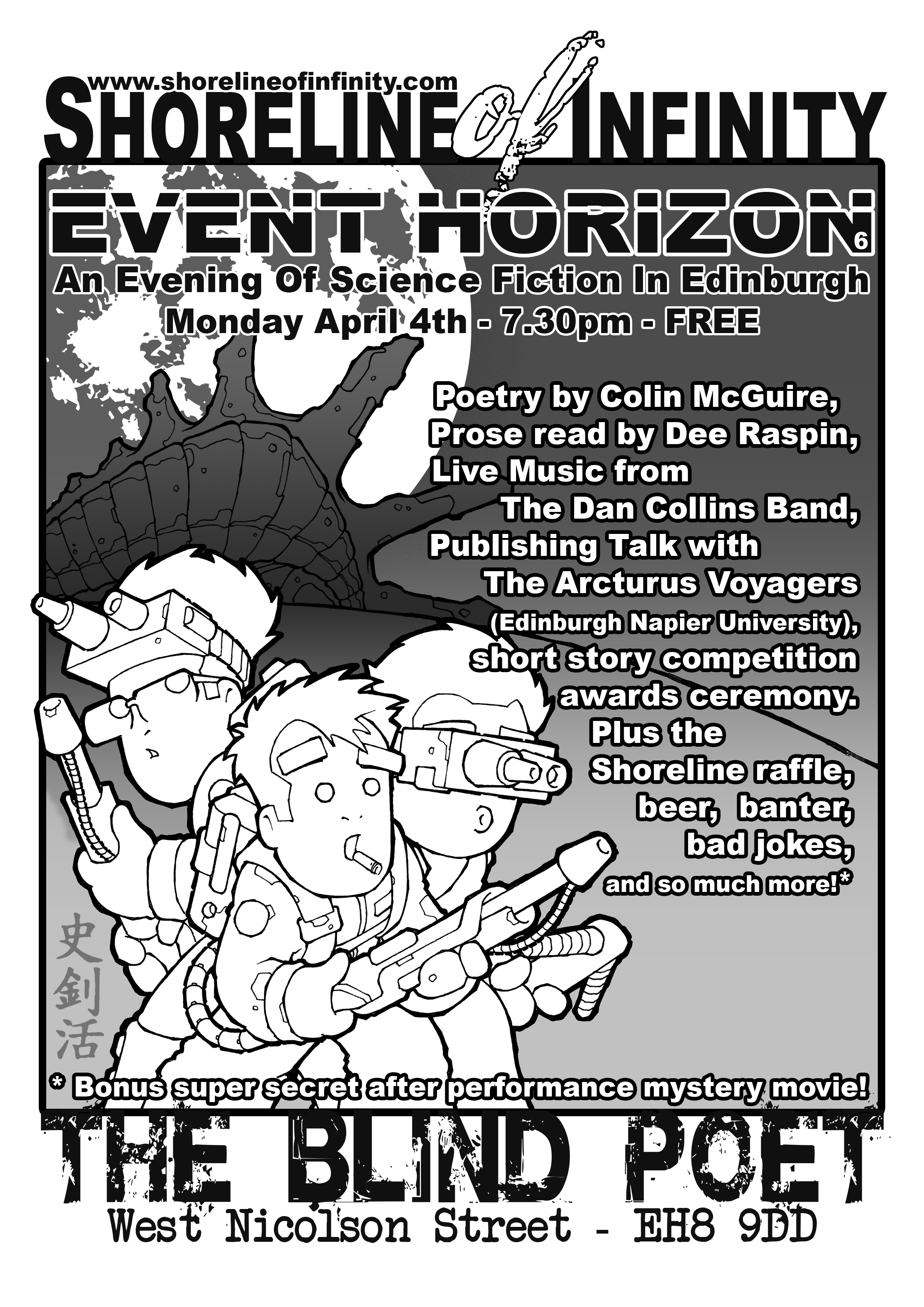 Event Horizon 6 – at the Blnd Poet, 4th April