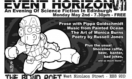 Event Horizon 7 – Science Fiction evening at the Blind Poet, 2nd May