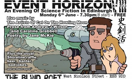 Event Horizon 8 – Science Fiction evening at the Blind Poet, 6th June