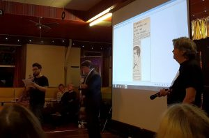 Russell Jones introduces Sydney Jordan photo: Ruth EJ Booth
