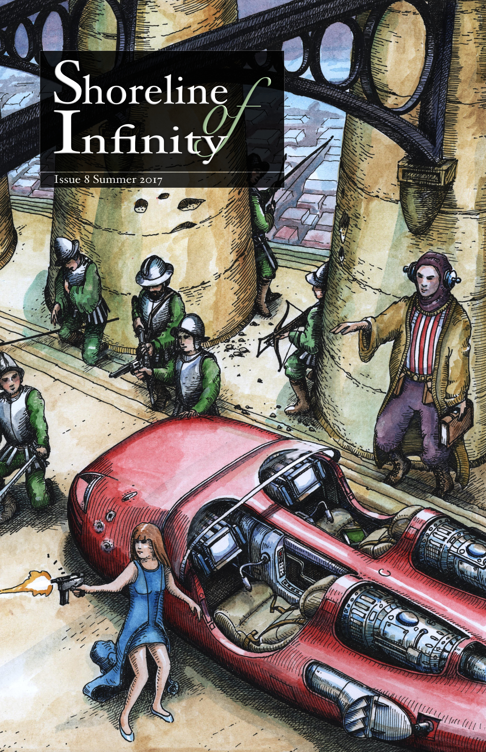 Shoreline of Infinity 8 Cover by Stephen Pickering