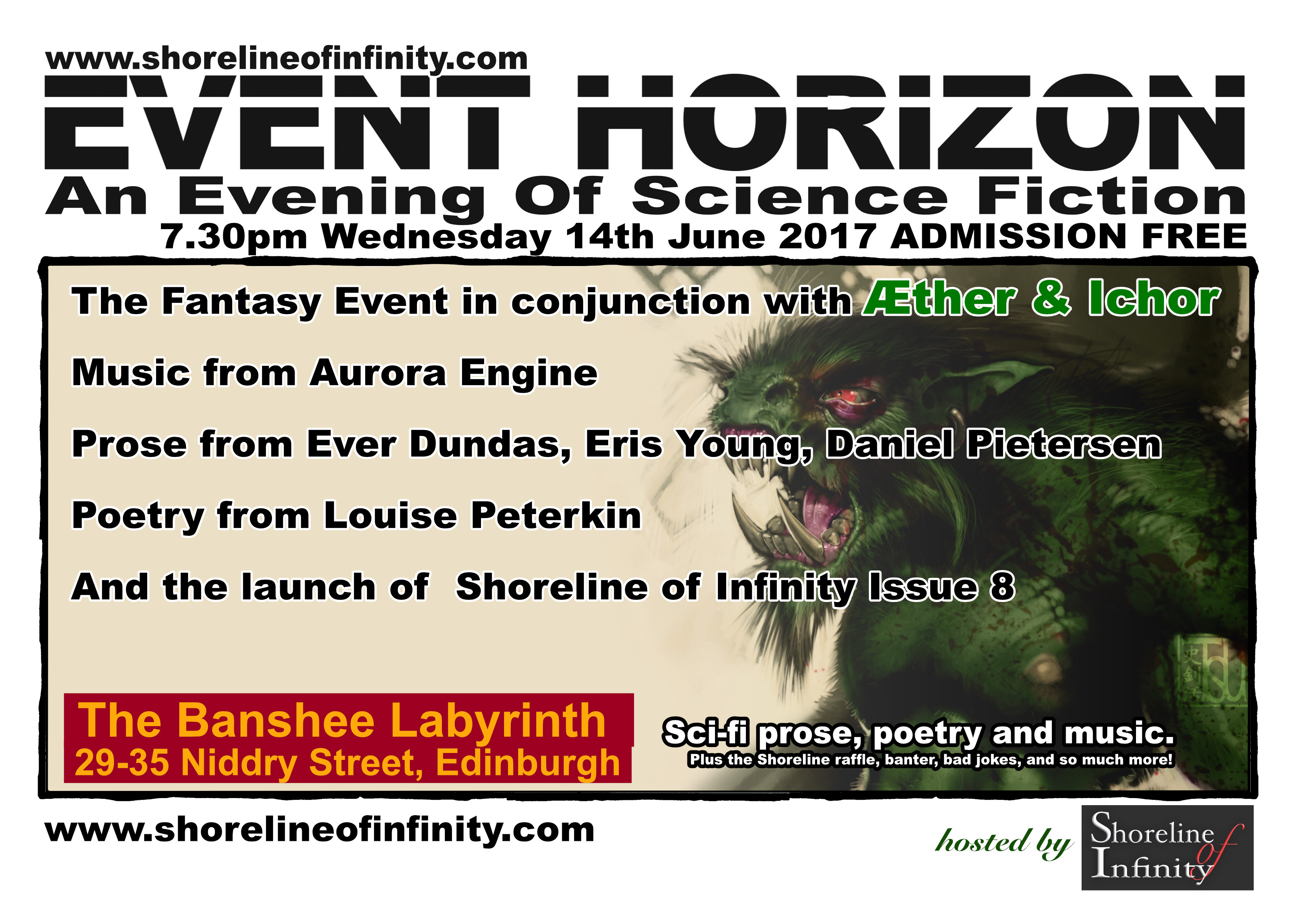 Shoreline of Infinity's Event Horizon 14th June 2017