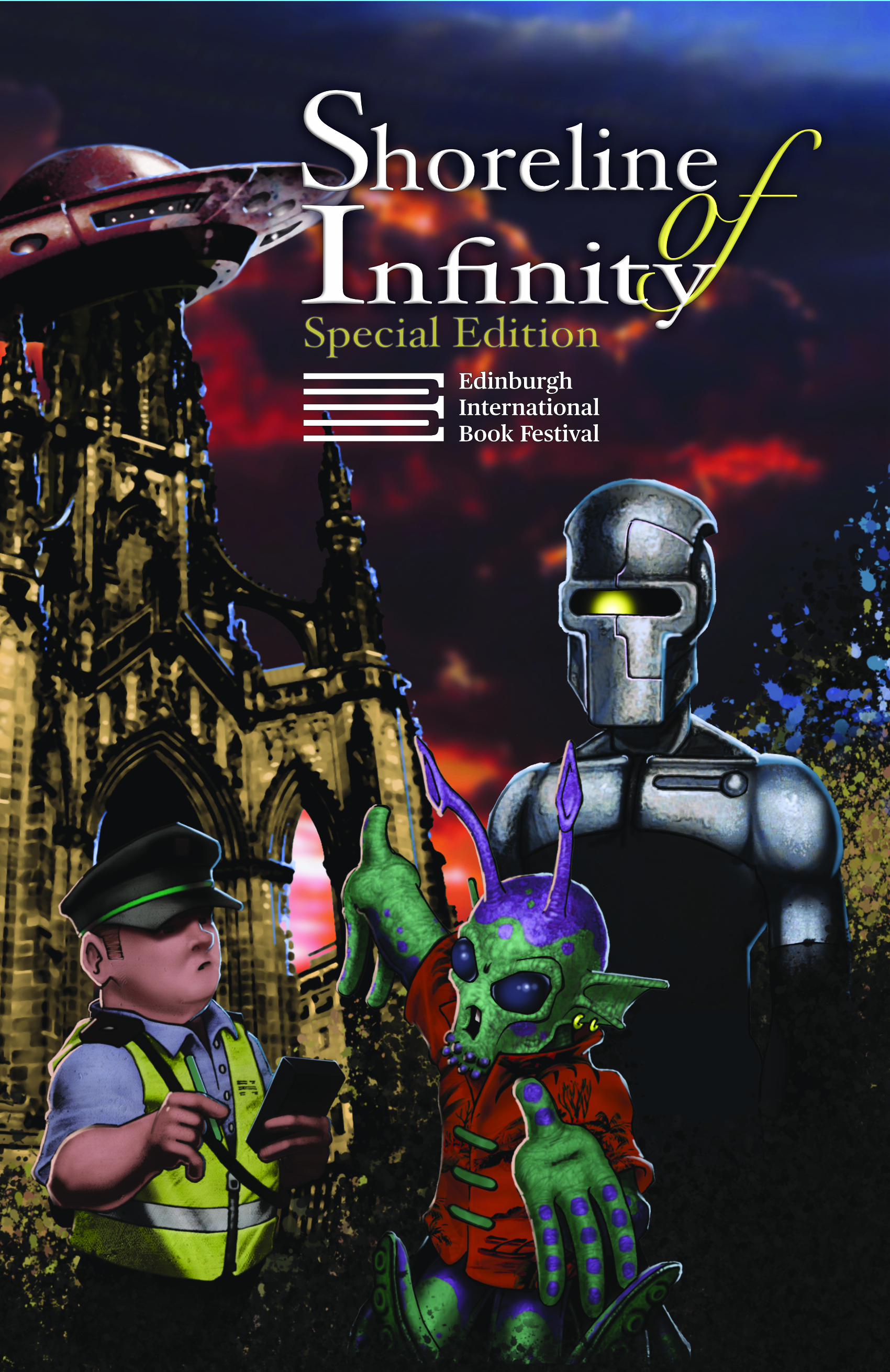 Shoreline of Infinity EIBF Special Edition Cover by Stuart Beel