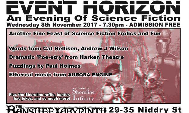 Shoreline of Infinity Event Horizon  8th November 2017