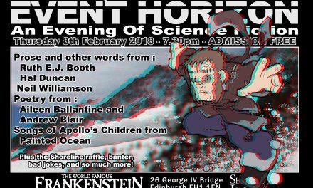 Shoreline of Infinity Event Horizon Thursday 8th February 2018