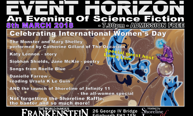 Shoreline of Infinity Event Horizon – Thursday 8th March 2018