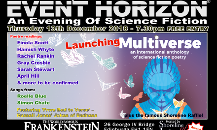 Shoreline of Infinity Event Horizon – Thursday 13th December 2018