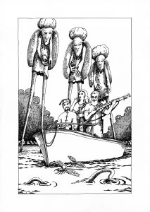 The Stilt-Men of the Lunar Swamps